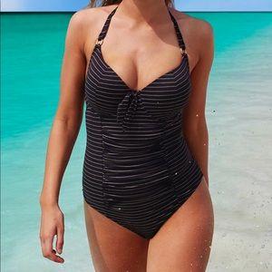 NWT Swim Sexy Paramour Glamour Stripe One Piece